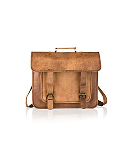 Woodland Leather Satchel Briefcase 16""