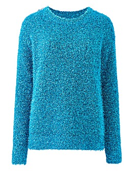 Teal Tinsel Jumper