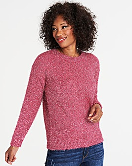 Hot Pink Tinsel Jumper