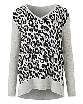 2 In 1 Leopard V Neck Jumper