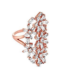 Jon Richard Floral Cluster Ring