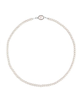 Jon Richard Cream Pearl Clasp Necklace