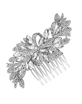 Jon Richard Silver Swirl Hair Comb
