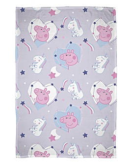 Peppa Pig Sleepy Junior Fleece Throw
