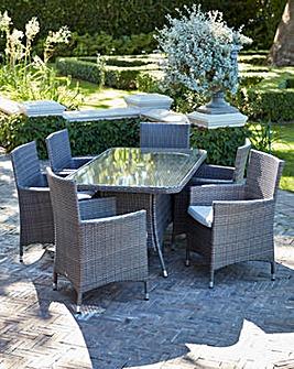 Adelaide 6 Seat Rectangular Table Set