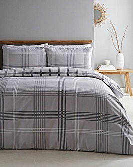 Edward Check Brushed Cotton Duvet Cover Set