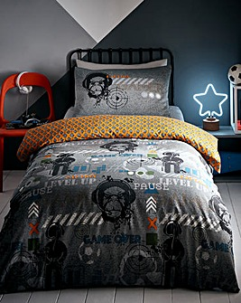 Gamer Glow In The Dark Reversible Duvet Set