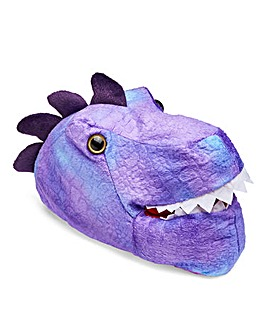 Kids Purple T Rex Slipper