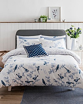 Cath Kidston British Birds 200 Thread Count Cotton Duvet Cover Set
