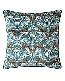 Fat Face Lounging Leopards Cushion