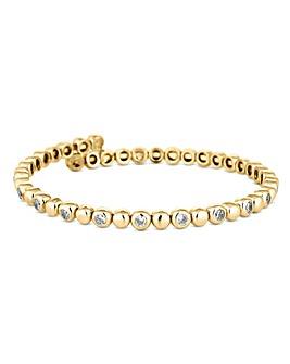 Jon Richard Crystal Tennis Coil Bracelet