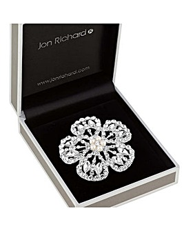 Jon Richard Open Flower Brooch