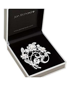 Jon Richard Pearl Flower Swirl Brooch