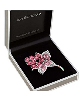 Jon Richard Crystal Floral Brooch