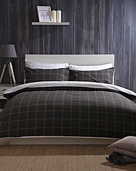 Vail Brushed Cotton Reversible Duvet Set