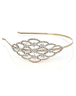Mood Gold Crystal Side Headband