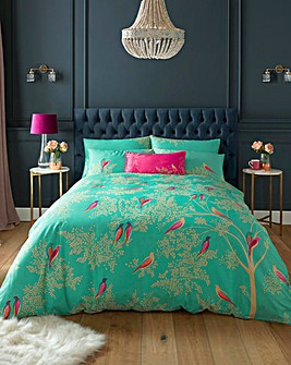 Sara Miller Green Birds Duvet Set