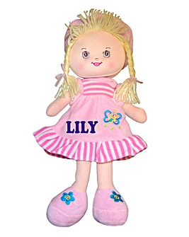 Personalised Rag Doll - Pink