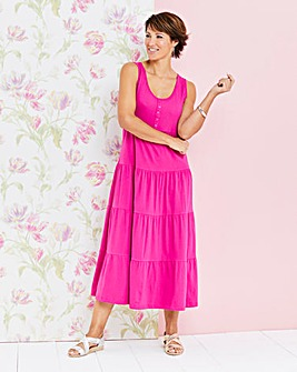 Plain Tiered Jersey Dress 48in