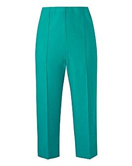 Cropped Linen Mix Trouser