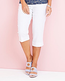 Julipa Cropped Linen Mix Trouser