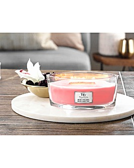 Woodwick Ellipse Melon and Pink Quartz Candle
