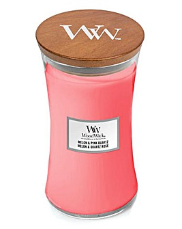 Woodwick Melon and Pink Quartz Large Jar