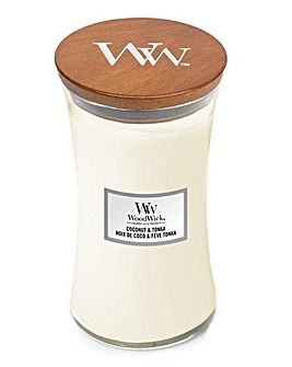 Woodwick Coconut and Tonka Large Jar