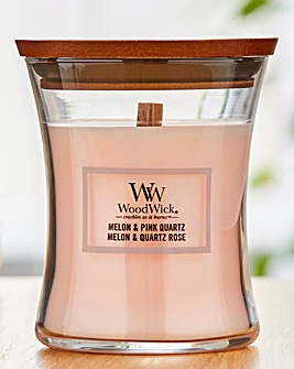 Woodwick Melon and Pink Quartz Medium Jar