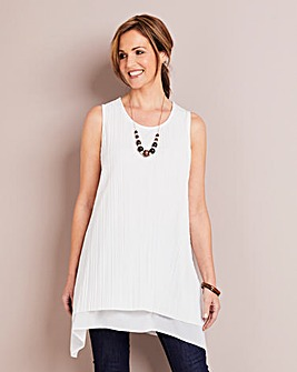 Hanky Hem Tunic With Necklace
