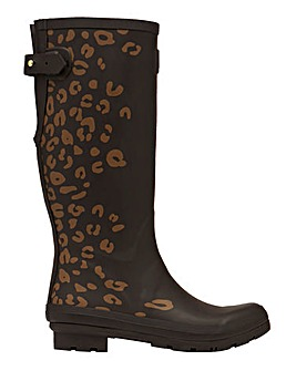 Joules Leopard Tall Wellies D Fit