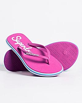 Superdry Neon Rainbow Flip Flops D Fit