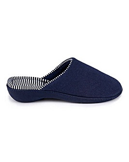 Totes Isotoner Stripe Heeled Slippers