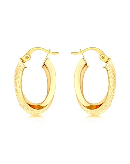 9Ct Gold Double Oval Earring