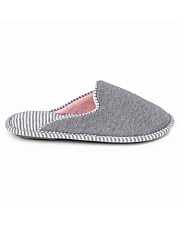 Totes Isotoner Stripe Mule Slippers