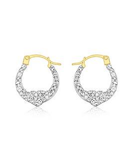 9Ct Gold Heart Earring