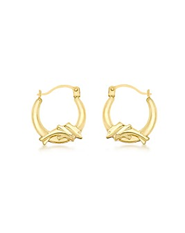 9Ct Gold Dolphin Hoop Earring
