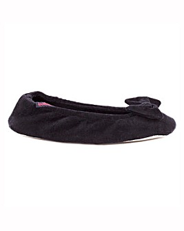 Totes Isotoner Velour Ballet Slippers