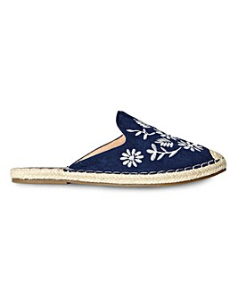 Joe Browns No Plans Embroidered Mules E Fit