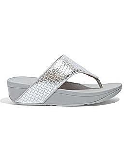 Fitflop Metallic Raffia Toe-Post Sandals D Fit