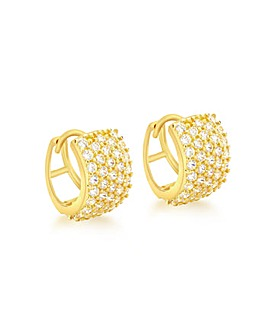 9Ct Gold 5 Row Huggie Style Earring