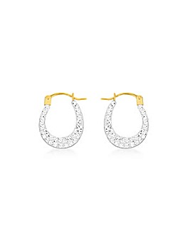 9 Carat Gold Crystalique Creole Earrings
