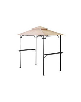 BBQ 2.5m x 1.5m Gazebo with Shelves