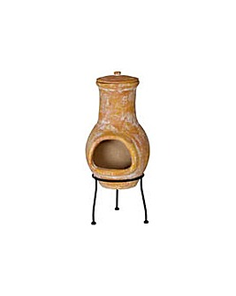 La Hacienda Clay Small Chiminea