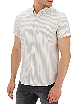Stone Stripe Oxford Shirt Long