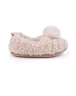 Dora Cosy Ballerina Slippers for Women from Pretty You London