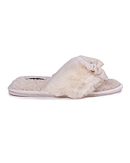 Diana Luxury Toe Post Slippers for Women from Pretty You London