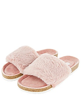 Accessorize Luxe Faux Fur Slider