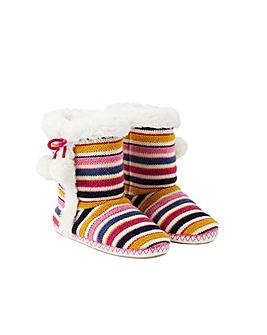 Accessorize Multi Stripe Knitted Boot