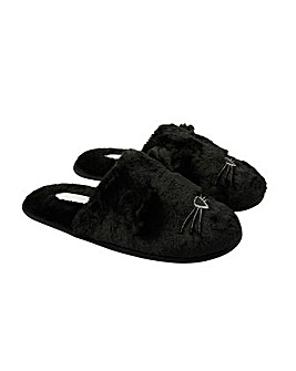 Accessorize Furry Cat Mule